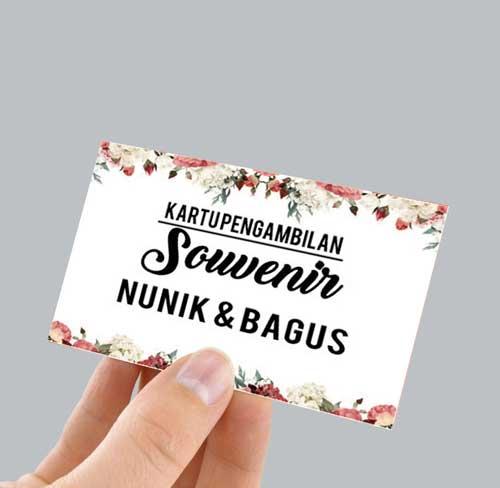 kartu pengambilan souvenir