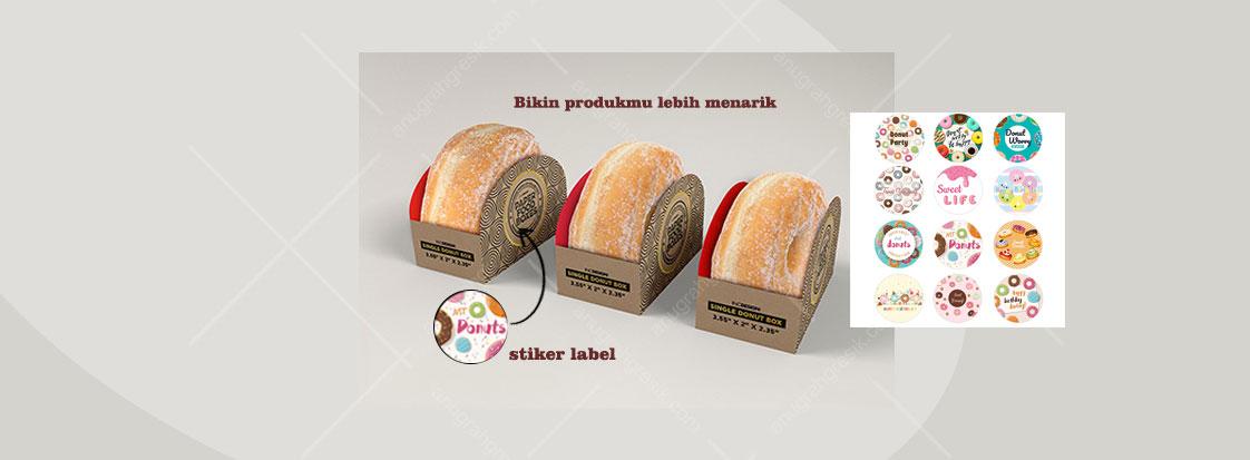 stiker label makanan
